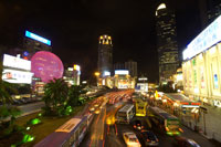 Xujiahui, traffic at night