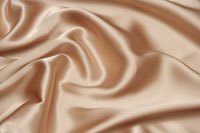 Detail of brown rippled satin