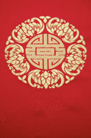 Chinese style pattern on red fabric