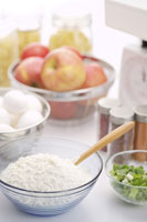 Food Preparation in Kitchen Counter