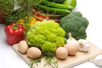 Piles of vegetable