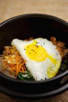 Korea food with fried egg