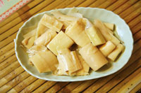 Plate with bamboo shoots