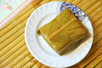 Rice Wrapped With Shell Flower Leaf