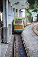 Trolley on railroad track