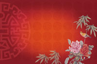 Red traditional Chinese-styled pattern