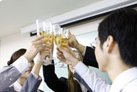 Business people having a celebration in the office
