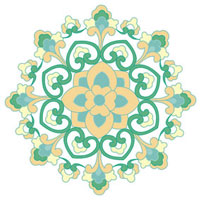 Classical floral pattern with vibrant color