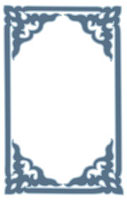Picture frame with floral pattern of Chinese style