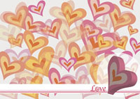 Background of heart shape