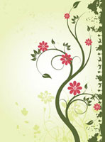 Illustration and painting of beautiful floral pattern