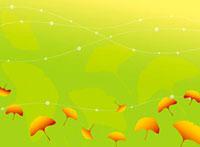 Illustration and painting of ginkgo leaf 11010044278| 写真素材・ストックフォト・画像・イラスト素材|アマナイメージズ