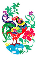 Illustration of a rooster with vibrant color 11010044530| 写真素材・ストックフォト・画像・イラスト素材|アマナイメージズ