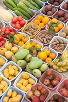 Various Fruits on market stall