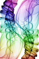 Smoke trail graphic design art with a rainbow effect colorat
