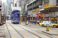 Asia, Hong Kong, Traffic, City Street,