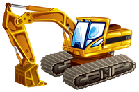 Excavator, Illustration Technique,