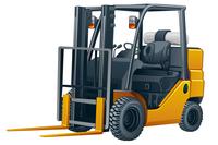 Forklift, Illustration Technique,