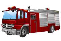 Fire Engine, Illustration Technique,