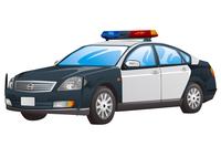Police Car, Illustration Technique,