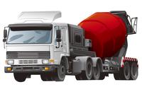 Cement Truck, Illustration Technique,