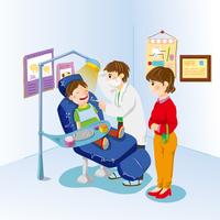 Illustration Technique, Dentist, Mother, Son,