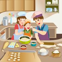 Illustration Technique, Father, Mother, Son,