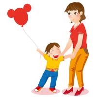 Illustration Technique, Mother, Son,