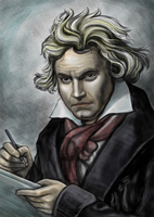 Ludwig van Beethoven, Fine Art Portrait,