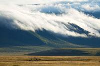 山にかかる雲
