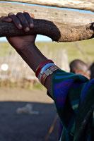 マサイ族の腕