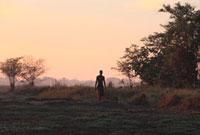 野原と男 11011011375| 写真素材・ストックフォト・画像・イラスト素材|アマナイメージズ