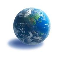地球 白バック