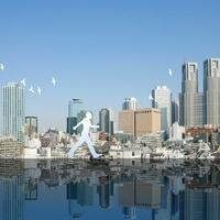 東京の街と歩く人 11011011629| 写真素材・ストックフォト・画像・イラスト素材|アマナイメージズ