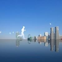 東京の街と走る人 11011011631| 写真素材・ストックフォト・画像・イラスト素材|アマナイメージズ