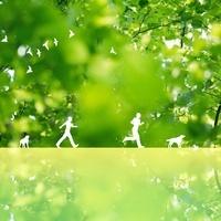 グリーンと走る人