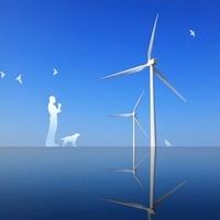 風力発電と考える人