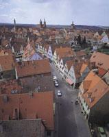 ローテンブルクの街並みとロマンチック街道
