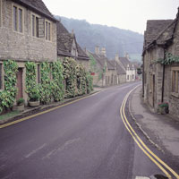 キャッスルクームの街並み イギリス 11012008890| 写真素材・ストックフォト・画像・イラスト素材|アマナイメージズ