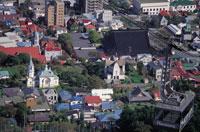 函館山ロープウェイと教会群