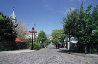 大三坂と元町カトリック教会