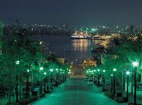 夜の八幡坂と摩周丸