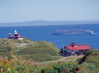 高島岬の日和山灯台と鰊御殿