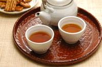 ほうじ茶とせんべい