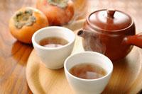 ほうじ茶と柿