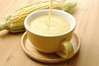 コーンスープとトウモロコシ