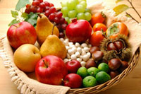 秋の果物集合