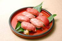 3種類のマグロのにぎり寿司