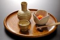 日本酒とイカ明太子