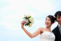 ブーケを持つ花嫁 11014002898| 写真素材・ストックフォト・画像・イラスト素材|アマナイメージズ